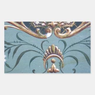 Ornate Design Rectangular Sticker