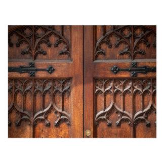 Ornate door postcard