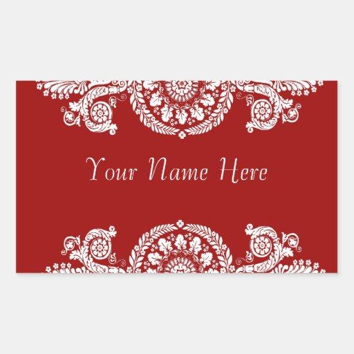 Ornate & Elegant Name Label Sticker