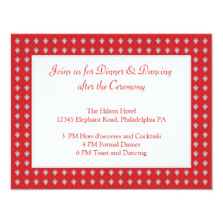 Ornate Elephants Wedding Reception Card Invitation