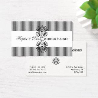 Ornate  Emblem Motif Memorable  Event  Planner Business Card