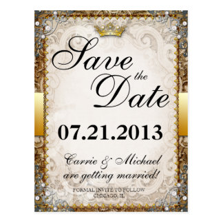 Ornate Fairytale Storybook Wedding Save the Date Postcards