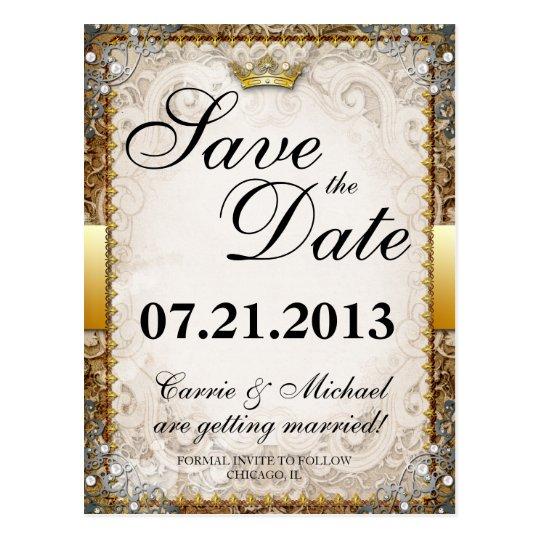 Ornate Fairytale Storybook Wedding Save the Date Postcard
