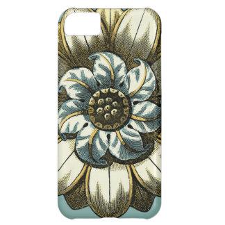 Ornate Floral Medallion on Light Blue Background iPhone 5C Case