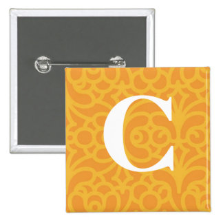 Ornate Floral Monogram - Letter C Pin