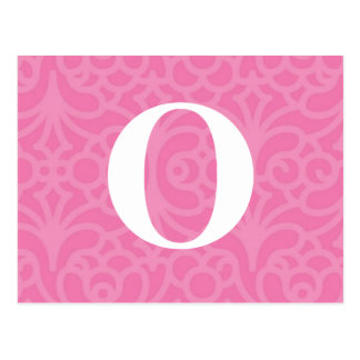 Ornate Floral Monogram - Letter O Post Cards