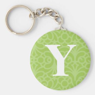 Ornate Floral Monogram - Letter Y Key Chain