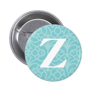 Ornate Floral Monogram - Letter Z 6 Cm Round Badge