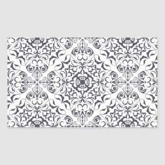 Ornate floral pale pattern rectangular stickers