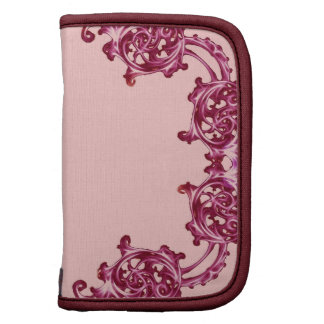 Ornate floral pink swirl planners