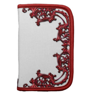 Ornate floral red swirl travel planner