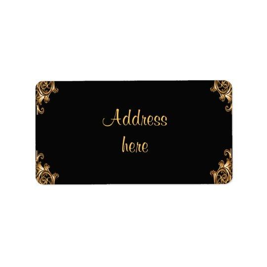 Ornate floral  swirl address labels
