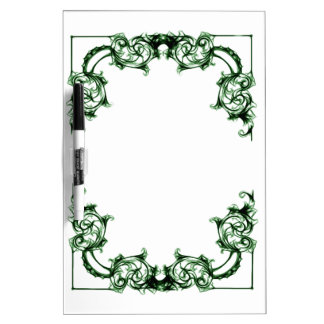Ornate floral  swirl  dry erase board