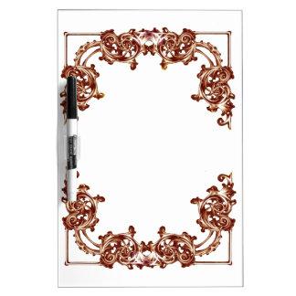 Ornate floral swirl dry erase board