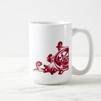 Ornate floral  swirl mug
