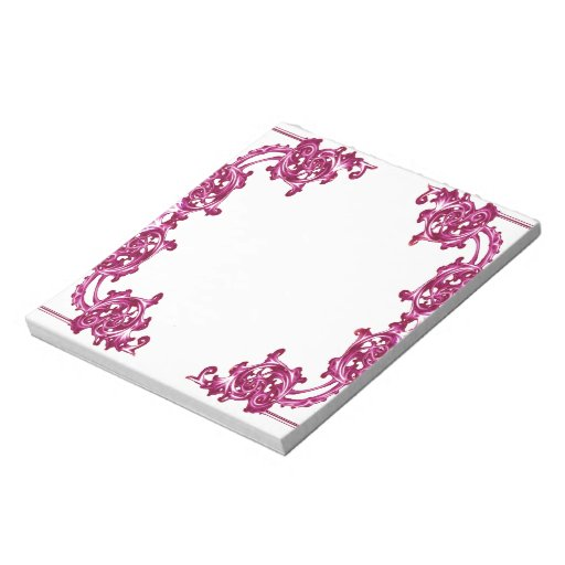 Ornate floral  swirl notepad