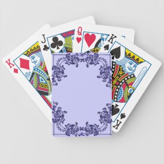 Ornate floral  swirl playing cards
