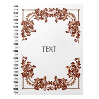 Ornate floral vintage swirl notebook