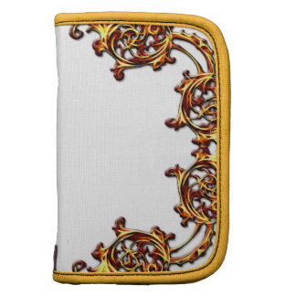 Ornate floral yellow swirl travel planner