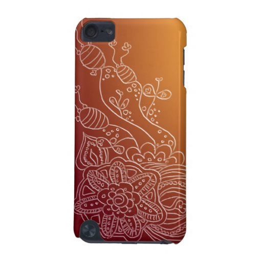 Ornate flower henna style design case iPod touch 5G cover