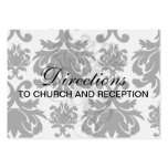 ornate formal black white damask pack of chubby business cards