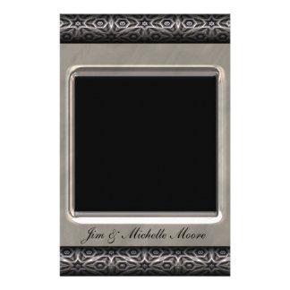 Ornate Frame 25th Wedding Anniversary Stationery