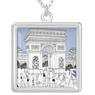Ornate Gate Silver Plated Necklace