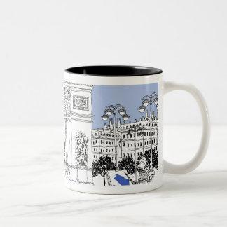 Ornate Gate Two-Tone Coffee Mug