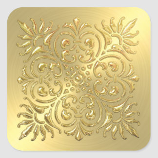 Ornate Gold Embossed Look Sticker