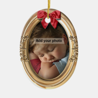 Ornate Gold Photo Ornament