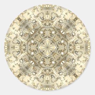 Ornate Gold & Silver Classic Round Sticker