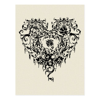 Ornate Gothic Heart Postcards