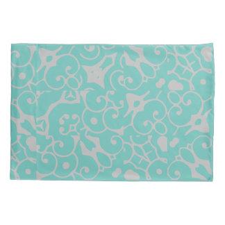 Ornate Gray Green and Rose Reversible 4Varney Pillowcase