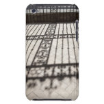 ornate iron fencing shadow on tile floor iPod Case-Mate cases