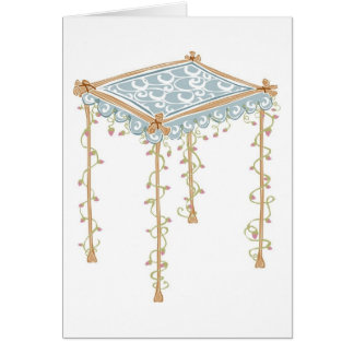 Ornate Jewish Wedding Canopy Card