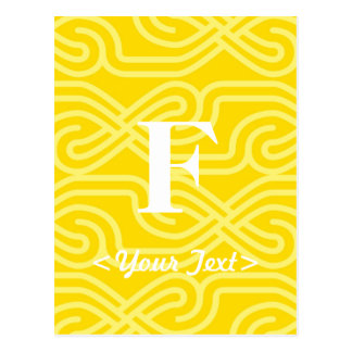 Ornate Knotwork Monogram - Letter F Postcard