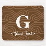 Ornate Knotwork Monogram - Letter G Mouse Mats