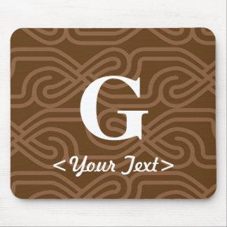 Ornate Knotwork Monogram - Letter G Mouse Pad