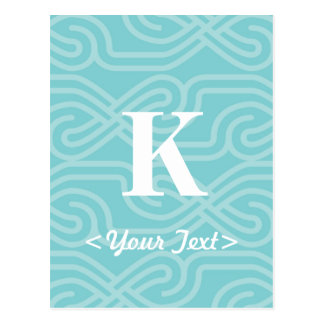 Ornate Knotwork Monogram - Letter K Post Card