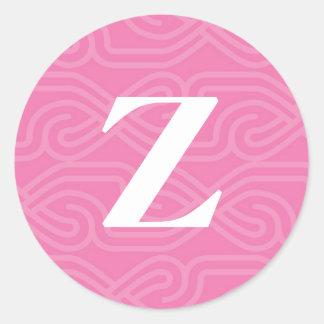 Ornate Knotwork Monogram - Letter Z Classic Round Sticker