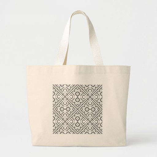 Ornate Labyrinth in Gray Canvas Bags