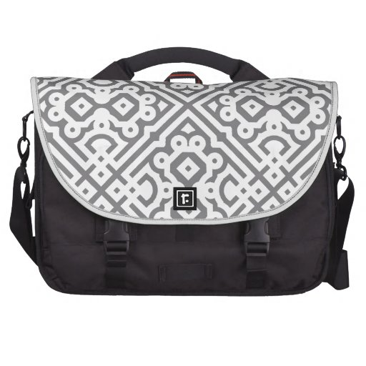Ornate Labyrinth in Gray Laptop Computer Bag