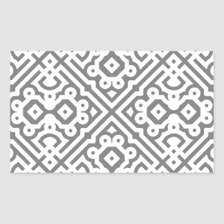 Ornate Labyrinth in Gray Rectangular Sticker