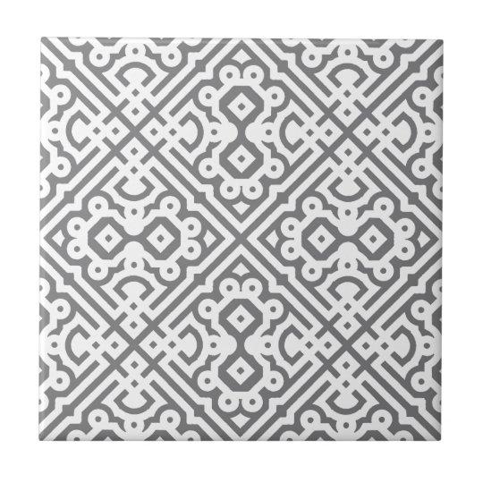 Ornate Labyrinth in Grey Tile