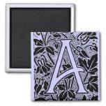 "Ornate Letter ""A"" Magnets"