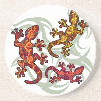 Ornate lizards coaster