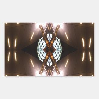 Ornate Metallica - Urban Futurism CricketDiane Rectangular Sticker