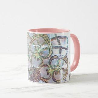Ornate metalwork pretty filigree pattern mug
