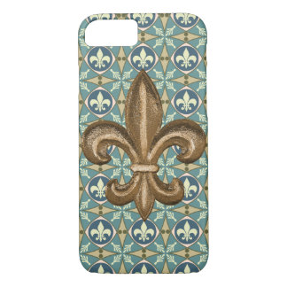 Ornate New Orleans Gold Fleur De Lis iPhone 8/7 Case