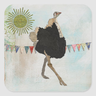 Ornate Ostrich Sunshine Sticker